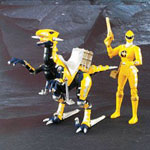 aba yellow ranger & yellow raptor set